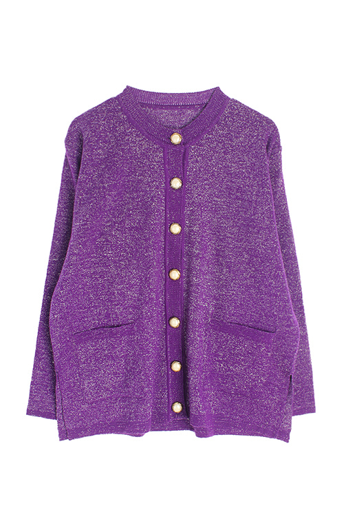 PURPLE GLITTER CARDIGAN