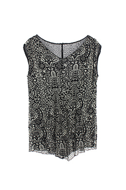 PATTERN SLEEVELESS TOP