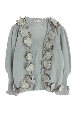 FLOWER DETAILED CARDIGAN