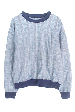 GLEN CHECK SWEATSHIRT