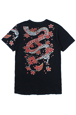 DRAGON PRINTED TRADITIONAL TEE