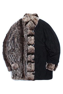 REVERSIBLE FUR JACKET [REX FUR]