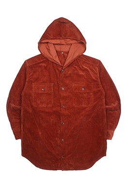 HOODED CORDUROY SHIRT