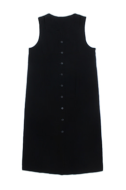 BLACK BUTTONED DRESS