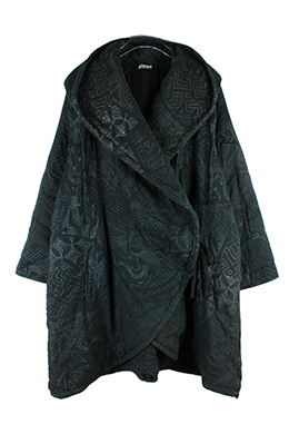 QUILTED HOODED CARDIGAN